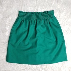 J. Crew Green Wool Blend Sidewalk Skirt